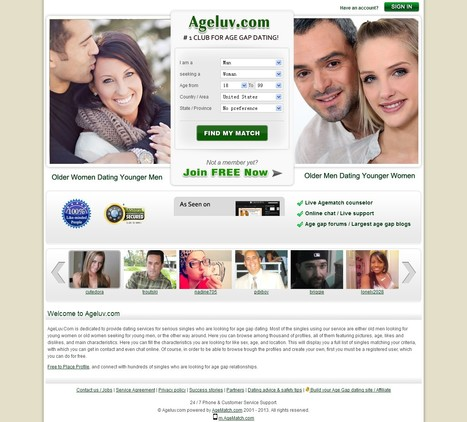 The Best Age Gap Dating Site -- AgeLuv.Com | AgeLuv.Com | Scoop.it