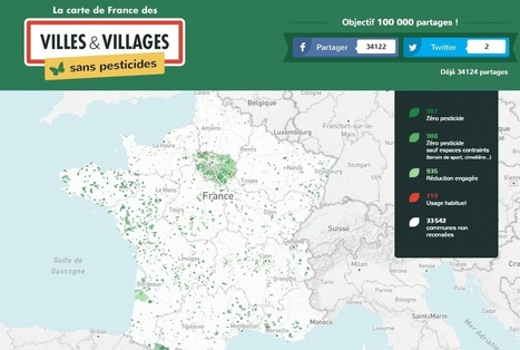 Carte de France interactive des communes sans pesticides - Chroniques Cartographiques | ClioTweets | Scoop.it