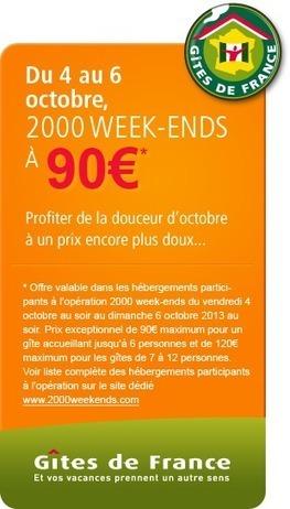 2000 week ends Gîtes de France | L'actualité des Gîtes de France | Scoop.it