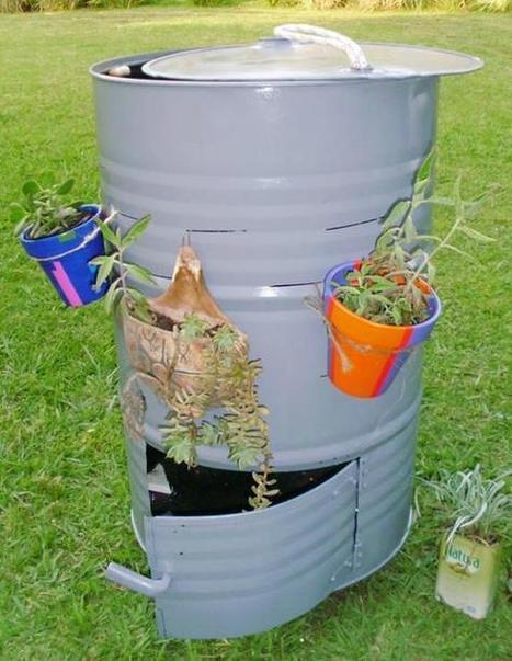 HOY REUTILIZAMOS: Un tambor de metal <br/>Una manera sencilla de hacer compost    Facebook   Transici&oacute;n   Scoop.it