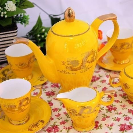 Bone of Jingdezhen porcelain coffee set European-style British ceramic Tea Cup set Xianglong Ceramicslife.com | Tea Set | Scoop.it