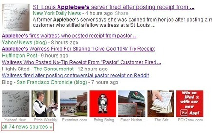 Applebee's Turns Selfish Customer Into PR Nightmare | Social Media scoops by Rick Maresch | Scoop.it