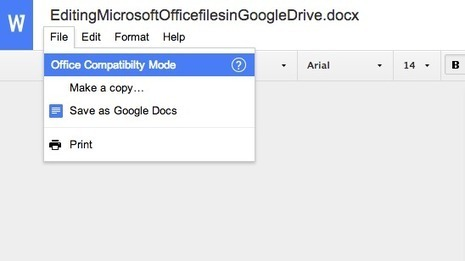 Editing Microsoft Office files in Google Drive | Moodle and Web 2.0 | Scoop.it