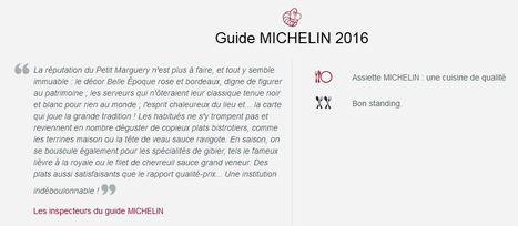 Au Petit Marguery Rive Gauche sélectionné par le Guide Michelin | RESTOPARTNER : des restaurants  de qualités à Paris - France | Scoop.it