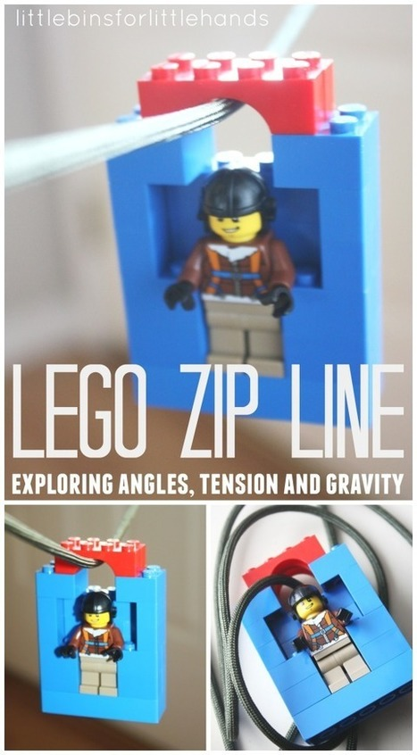 Lego Zip Line Homemade Toy Zip Line for Kids | Early Childhood Education | Scoop.it