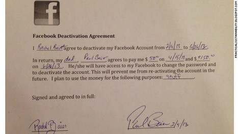 Dad pays daughter $200 to quit Facebook | Social Media Article Sharing | Scoop.it
