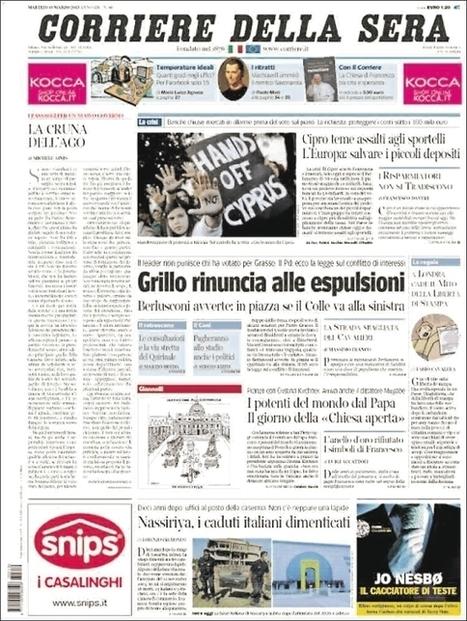 Le «Corriere della Sera» en grève face à la réduction d'un tiers de ses effectifs | DocPresseESJ | Scoop.it