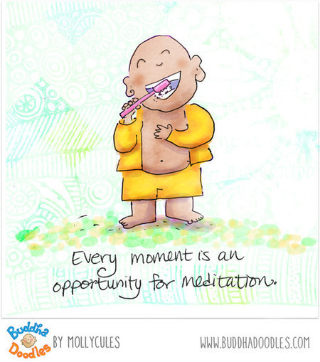Everyday Enlightenment — BuddhaDoodles | Meditation for Stress Reduction | Scoop.it