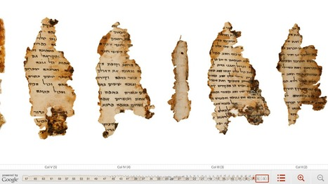 Official Google Blog: From the desert to the web: bringing the Dead Sea Scrolls online | Google Sphere | Scoop.it