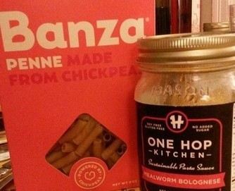 Taste Test Friday: Banza chickpea pasta with One Hop Kitchen Bolognese offers a twist on a classic | Entomophagy: Edible Insects and the Future of Food | Scoop.it