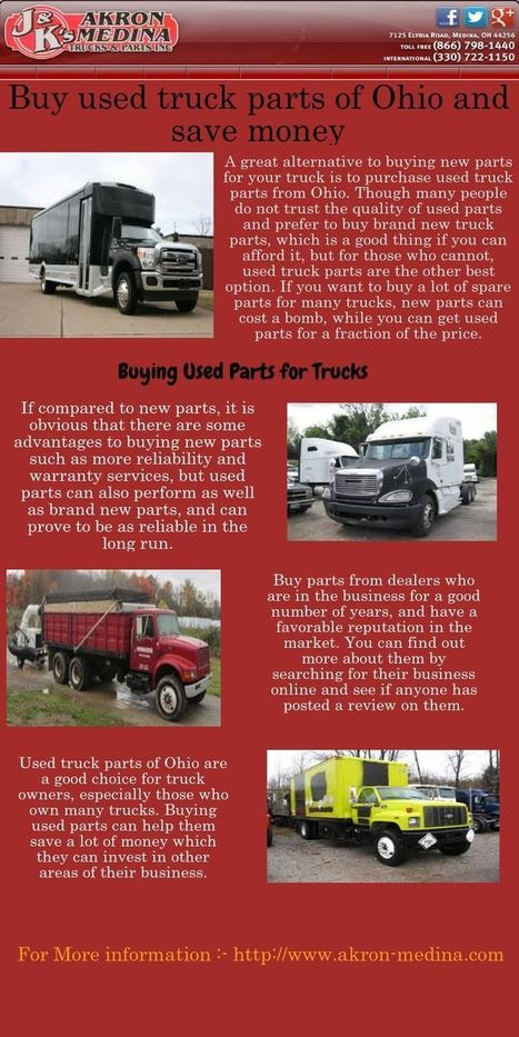 Buy used truck parts of Ohio and save money | Akron-Medina | Scoop.it