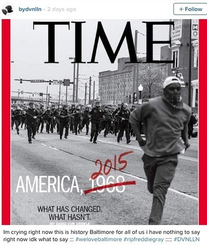 Baltimore Photographer Devin Allen Captures Uprising In Touching TIME Cover Photo | Criminology and Economic Theory | Scoop.it