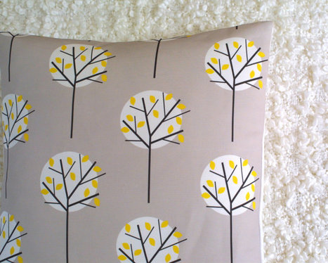 Moonlight Tree in Stone cushion cover | homedecor | Scoop.it