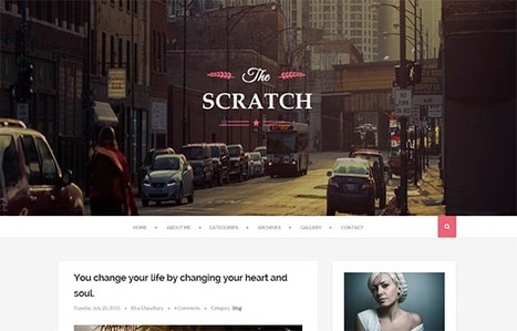 Scratch Clean and Responsive Blogger Template | Blogger Templates | Scoop.it