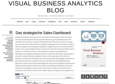 NEUER BLOG | VISUAL BUSINESS ANALYTICS 06-2013 | Scoop.it