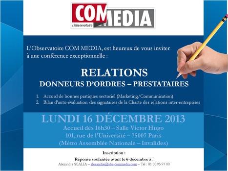 Prochaine conférence plénière de l'Observatoire COM MEDIA le 16 décembre 2013   L'actualité de la communication globale   Scoop.it