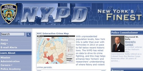 NYPD start Interactive Crime Map   Crime maps   Scoop.it