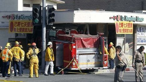 14 injured after fire truck rams into California restaurant | Police Problems and Policy | Scoop.it