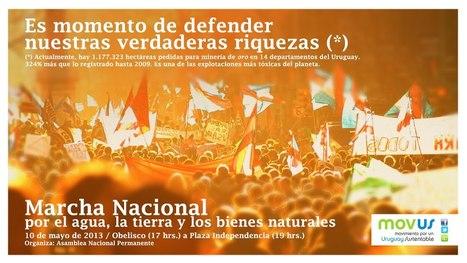 Uruguay / 4ta Marcha Nacional en defensa de la Tierra, del Agua, y de los Bienes Naturales 10/05/2013 | MOVUS | Scoop.it