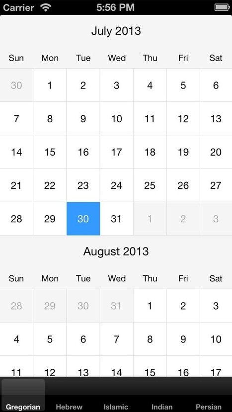 MNCalendarView | iOS third party developments | Scoop.it