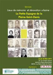 Séminaire lieux de mémoire et rénovation urbaine : la Petite Espagne de la Plaine-Saint-Denis | actualités en seine-saint-denis | Scoop.it