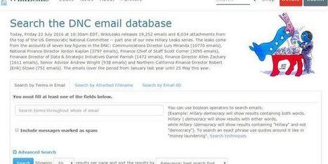 Wikileaks révèle des milliers de courriels sur la campagne du Parti démocrate américain   Libertés Numériques   Scoop.it