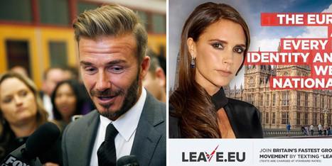 David Beckham prend position contre le Brexit, le camp adverse lui ressort Victoria | Crise de com' | Scoop.it