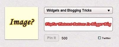 Thumbnail Error Fix For Pinterest Buttons In Blogger Blog - Blogs Daddy   Blogger Tricks, Blog Templates, Widgets   Scoop.it
