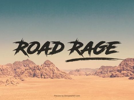Road Rage - Free Font   Designer Mill   Freakinthecage Webdesign Lesetips   Scoop.it