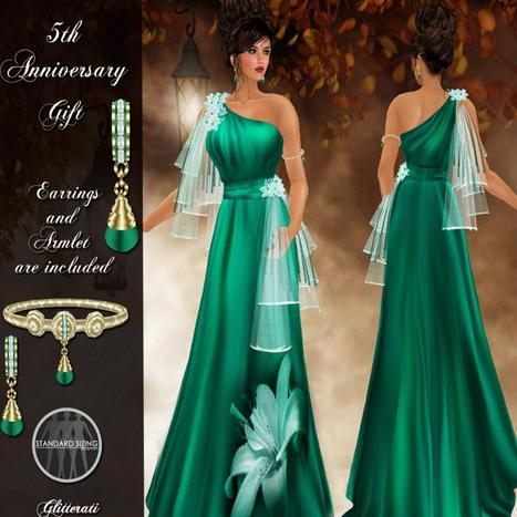 5th Anniversary Gown and Jewelry Set Group Gift by Glitterati By Sapphire | Teleport Hub - Second Life Freebies | Second Life Freebies | Scoop.it