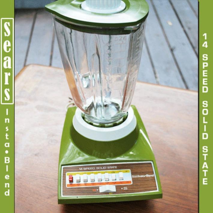 1970's SEARS Insta Blend 14 Speed Blender AVOCADO by CampyClassics | Kitsch | Scoop.it