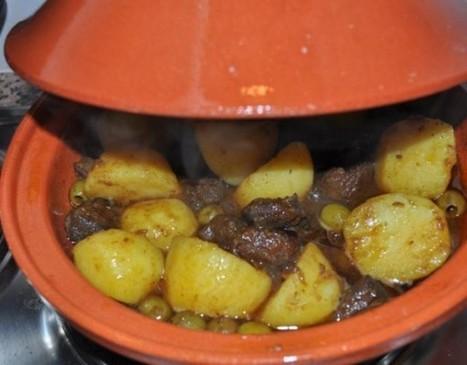 Tajine de viande aux pommes de terre et olives   Tajines   Scoop.it