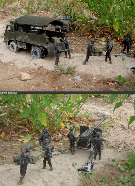 My small 1/18 artillery convoy | Military Miniatures H.Q. | Scoop.it