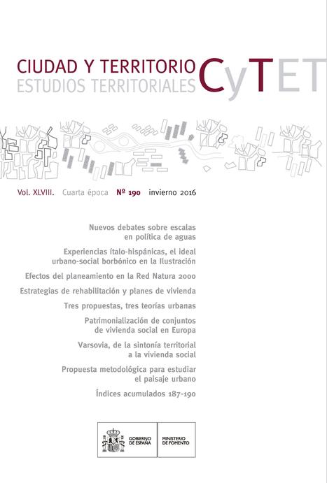 Ciudad y Territorio. Estudios Territoriales, Vol. XLIII, nº 190 (2016)   Ingeniería Civil   Scoop.it