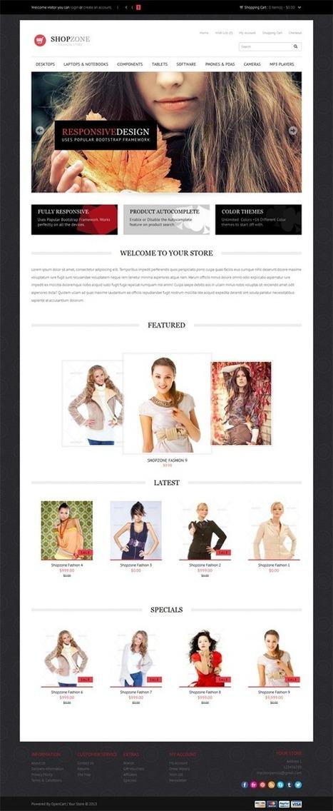 Shopzone, Premium Opencart Fashion E-Store Theme | Premium Download | responsive sites | Scoop.it