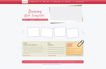 Download Event Management Company Web Template | Juneja Web Blog | Web Inspiration | Scoop.it