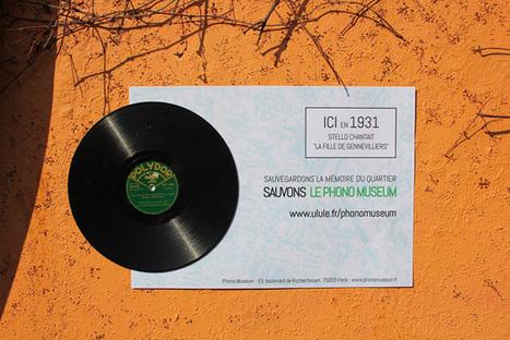 Paris : une campagne d'affichage intègre de vrais disques | Paper Rock | Scoop.it