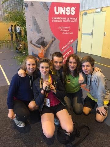 UNSS Escalade : Mariette au Championnat de France | Actualité lycéenne  Lycée Mariette | Scoop.it