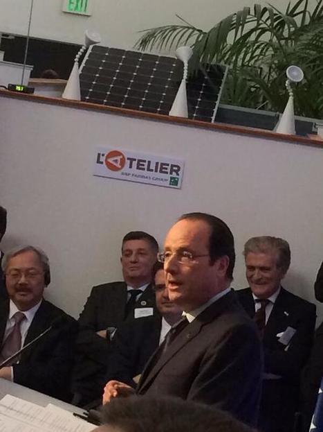 Francois Hollande défend l'innovation à L'Atelier [Tweet @Lotreus] | François Hollande à L'Atelier BNP Paribas | Scoop.it