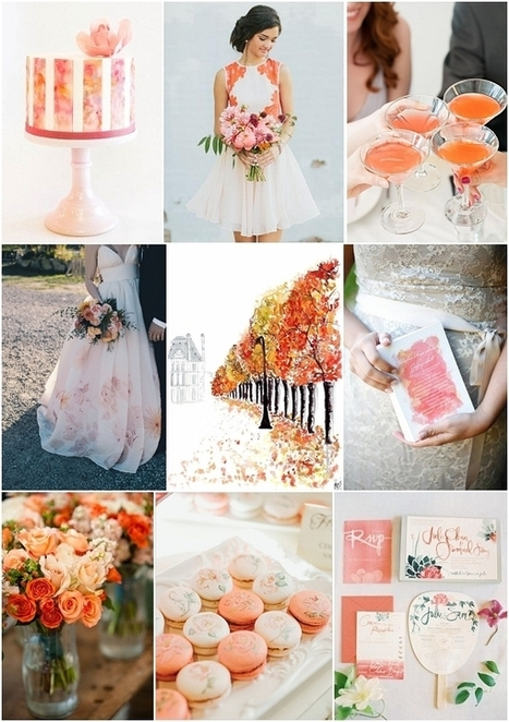 Watercolour Wedding Ideas | French Wedding Inspiration | Scoop.it