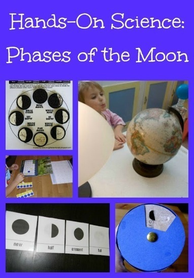 Hands On Science: Phases of the Moon Activities for Kids | Earth, Moon, and Sun Relationships | Scoop.it