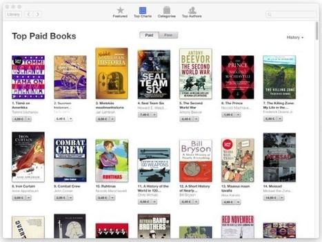 Apple iBooks -e-kirjat saavat miljoona uutta asiakasta joka viikko | Klaava | E-kirjat | Scoop.it