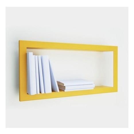 Etagère murale cadre jaune moutarde presse citron largstick   au quotidien   Scoop.it