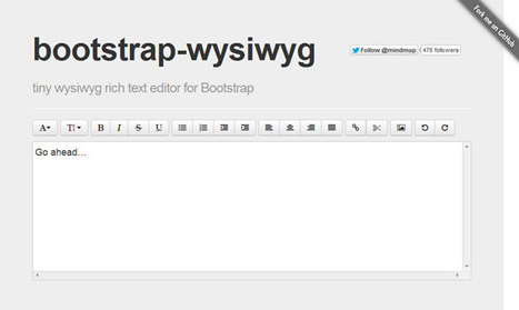 Tiny, opensource, Bootstrap WYSIWYG rich text editor from MindMup | Formulaires HTML5, CSS3 & jQuery | Scoop.it