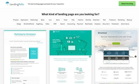 Collection of great landing page examples: LandingFolio | Public Relations & Social Media Insight | Scoop.it
