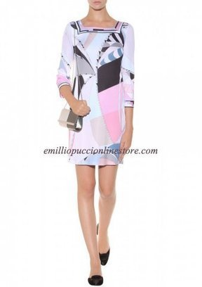 Emilio Pucci Multicolor Square Neck Printed Short Dress Pink [Square Neck Printed Pink] - $183.99 : Emilio pucci dress sale online outlet,60% off & free shipping! | fashion things | Scoop.it