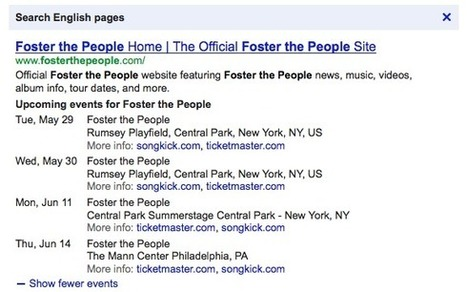 Google search now shows upcoming concerts   Social Media Epic   Scoop.it