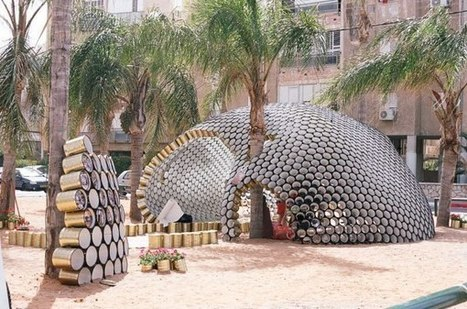 Bat-Yam Cans Pavilion | Recyclart | Sustainable Thinking | Scoop.it