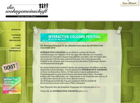 Die Wohngemeinschaft ist die offizielle Festivalbar der INTERACTIVE COLOGNE 2014!   Web de Cologne   Scoop.it
