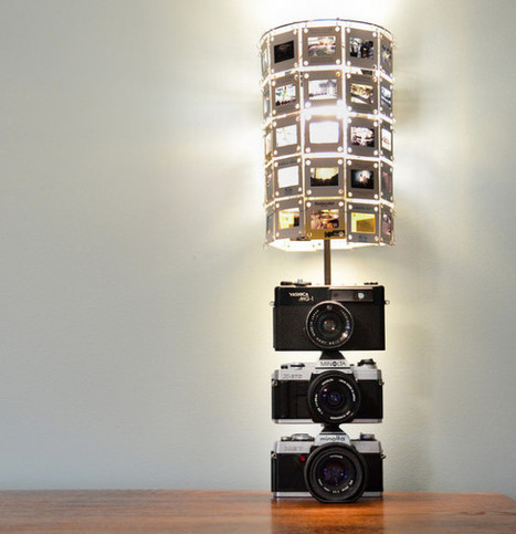DIY Lamp Made Using Vintage Cameras and Slide Film - PetaPixel | Creative Cables and Lighting Design | Scoop.it